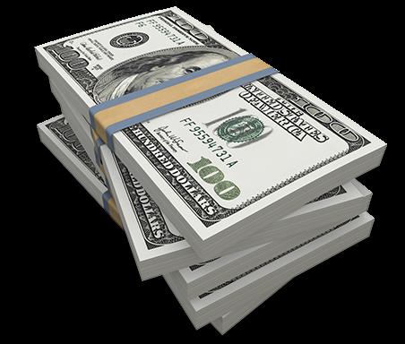 Money stack png.  cash stacks for