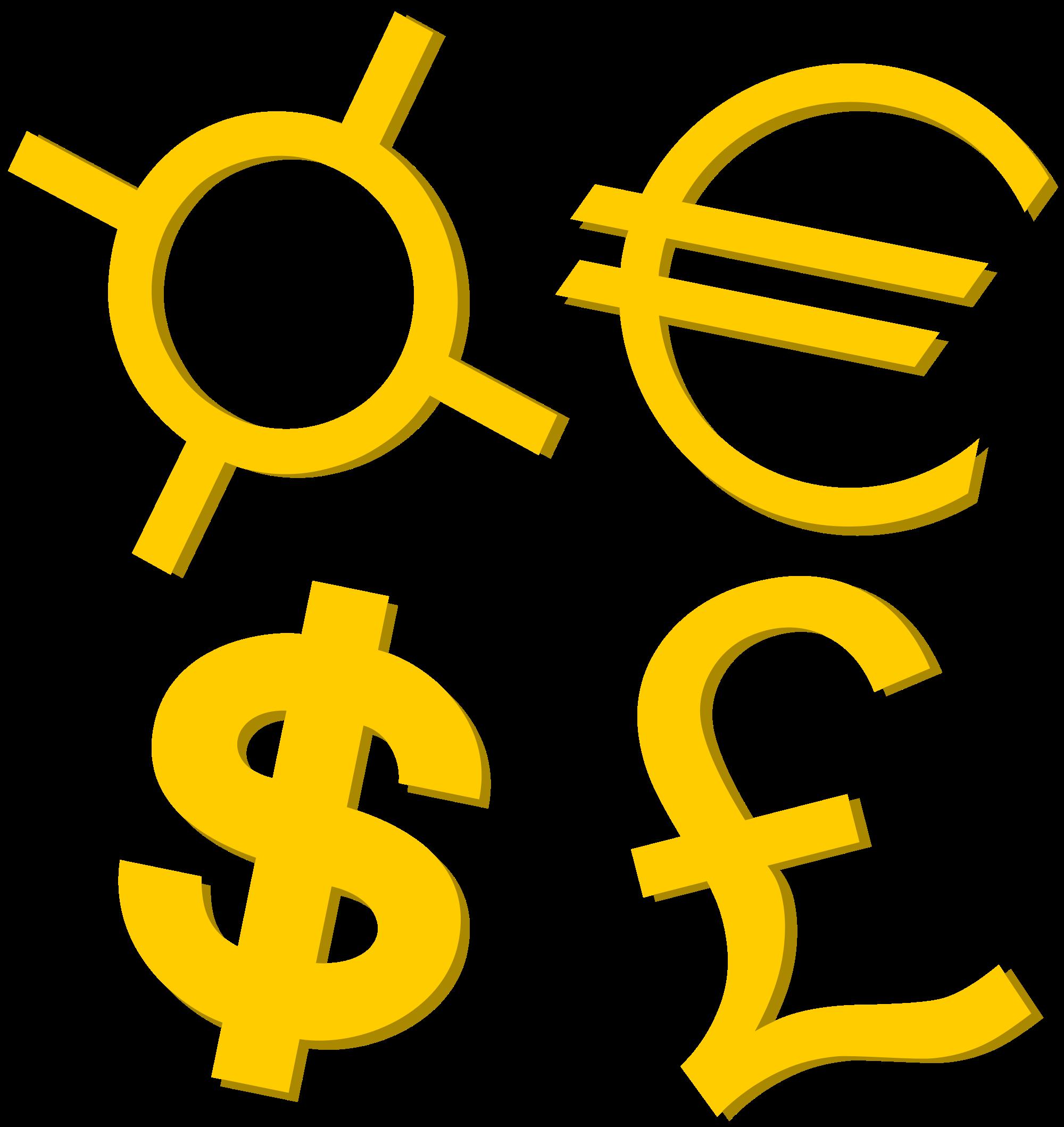 Money symbols png. File gold currency svg