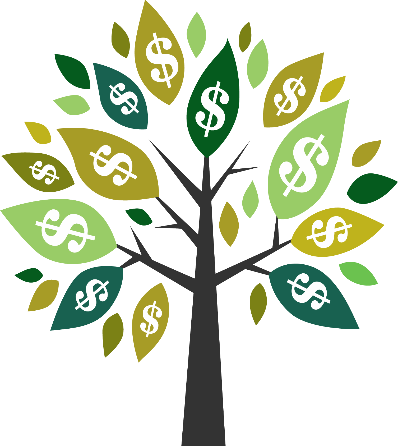 Money tree png. Dollar sign united states
