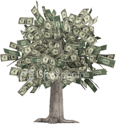 Dirty laundry moneytree. Money tree png
