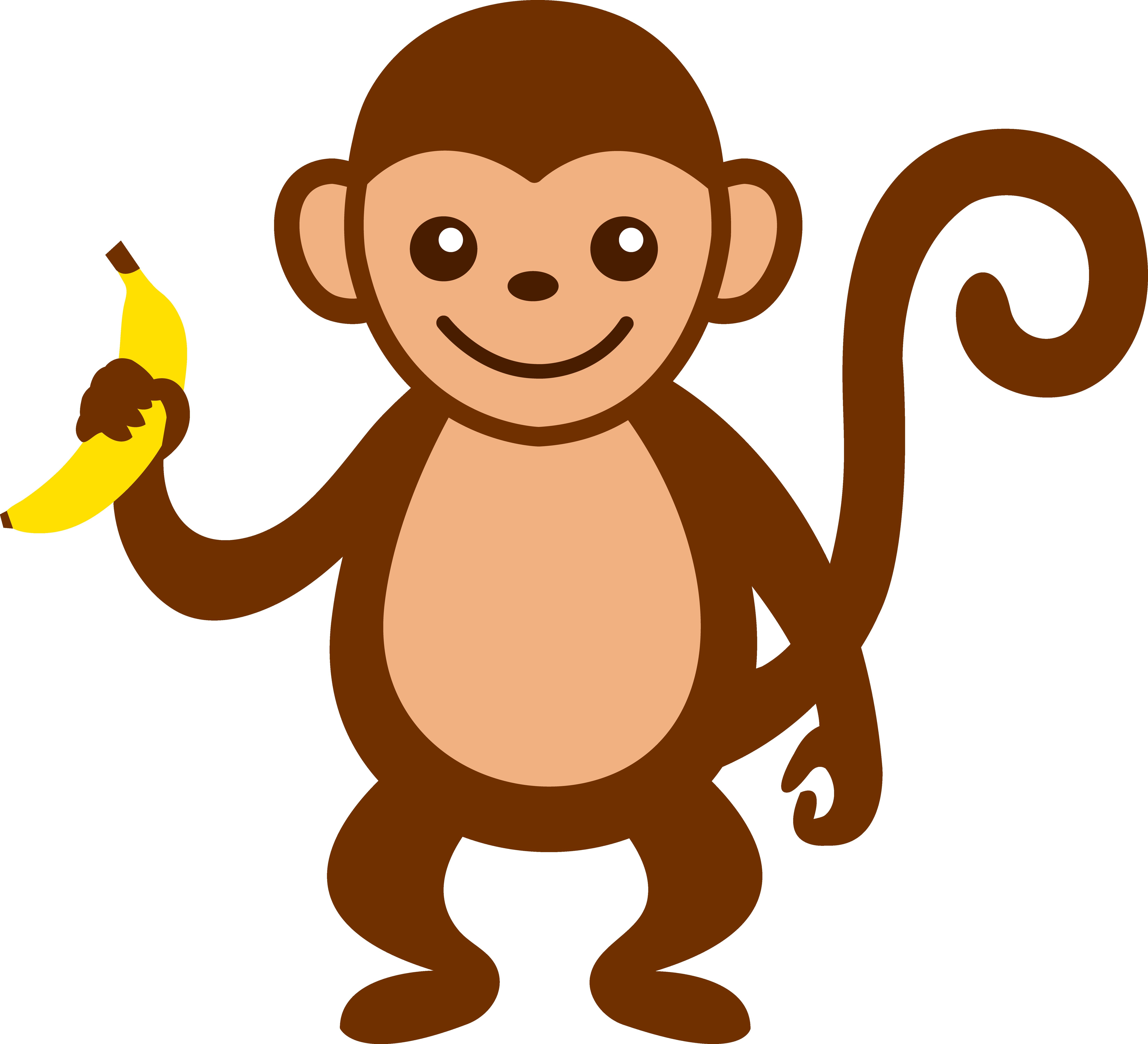 Monkey clipart. Cartoon clip art cute