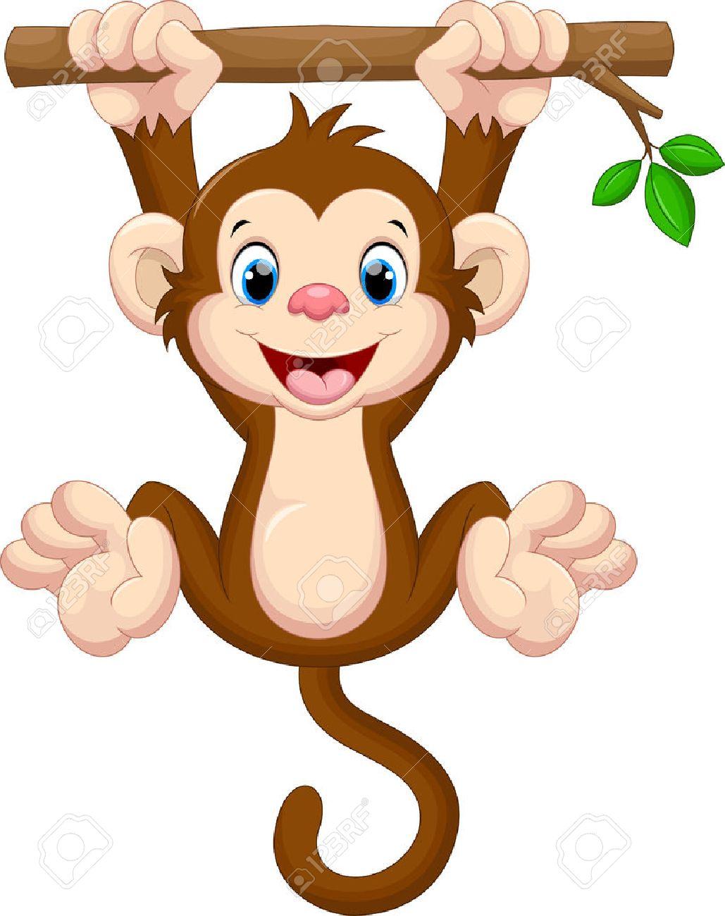 Cute station . Monkey clipart baby monkey