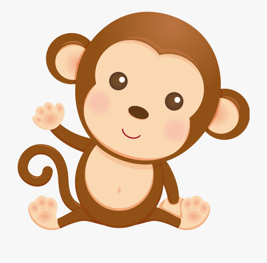 Monkey clipart baby monkey. Monkeys shower mono para