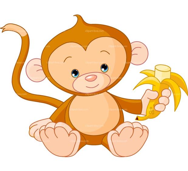 Monkey clipart baby monkey. Cute monkeys clip art