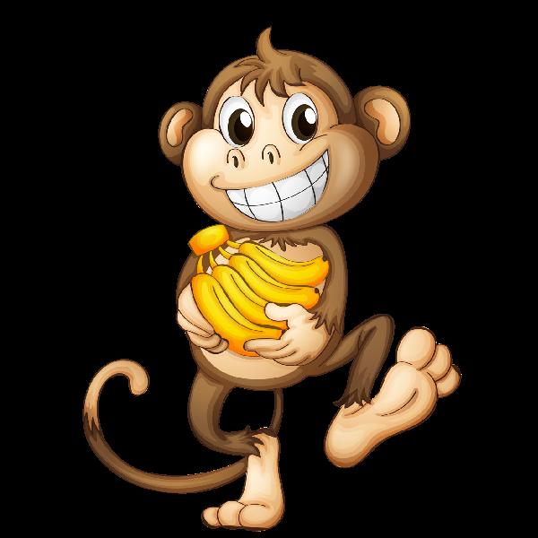 monkey clipart cartoon