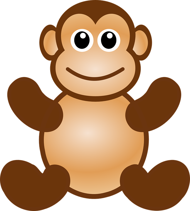Monkey clipart christmas. Baby shop of library