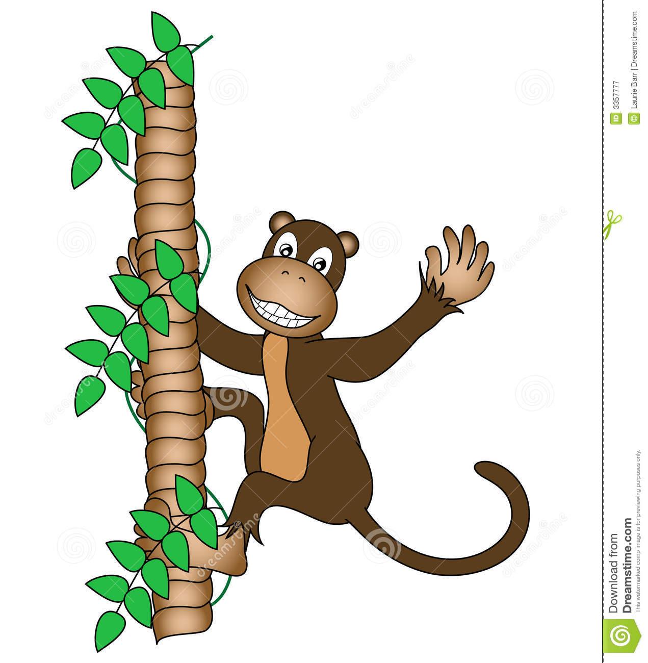 Monkey clipart climb. In a tree free