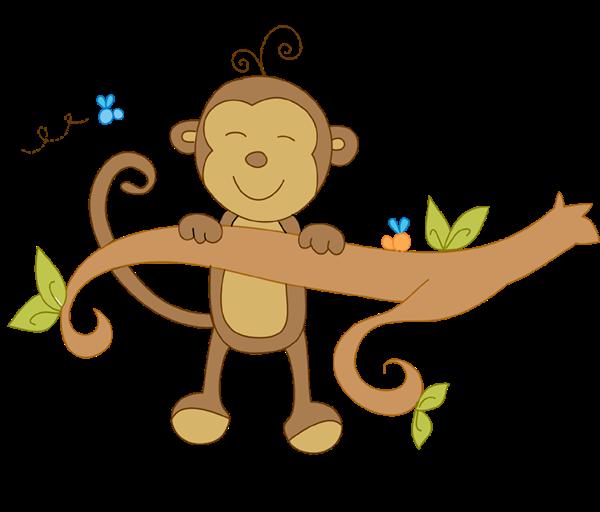 Monkey clipart climb. Birthday invitation all colors