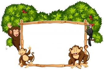 Free on transparent png. Monkey clipart frame