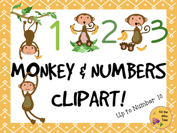 Monkeys clipart number. Monkey bananas numbers great