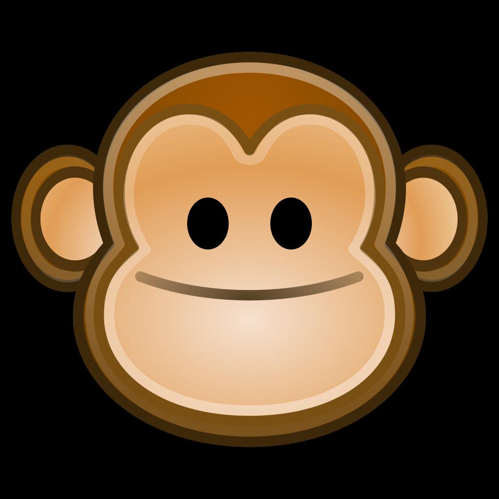 Clipart monkey profile. File face svg wikipedia