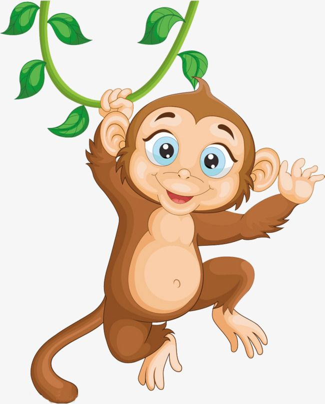 Jumping lively png . Monkey clipart sign