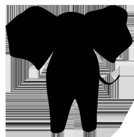 Monkey clipart silhouette. Animal clip art simple