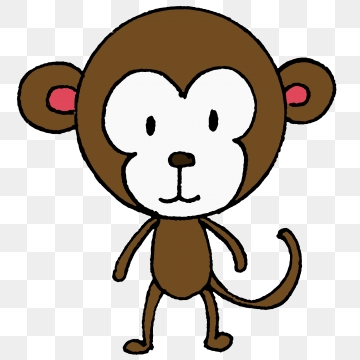 Monkey clipart simple. Download free transparent png