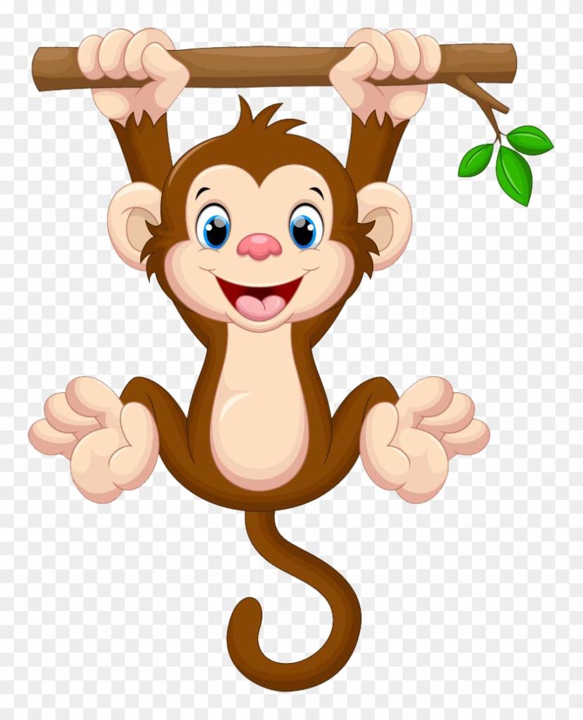 Monkey clipart simple. K h