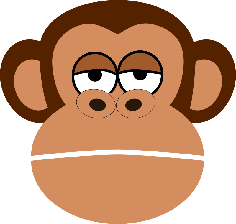 Mono free monkeys more. Monkey clipart sunglasses