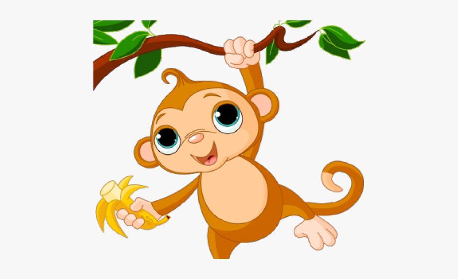 Monkey on free cliparts. Monkeys clipart tree