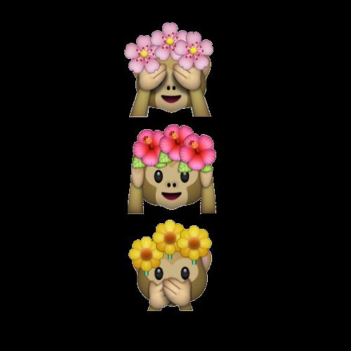 Images of tumblr spacehero. Monkey emoji with flower crown png