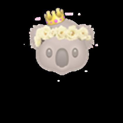 Koala w roblox . Monkey emoji with flower crown png