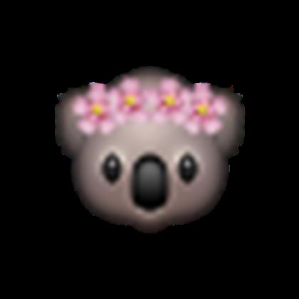 Monkey emoji with flower crown png. Koala w roblox