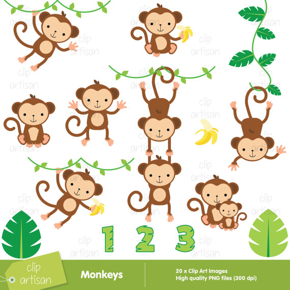 Monkeys clipart. Monkey baby