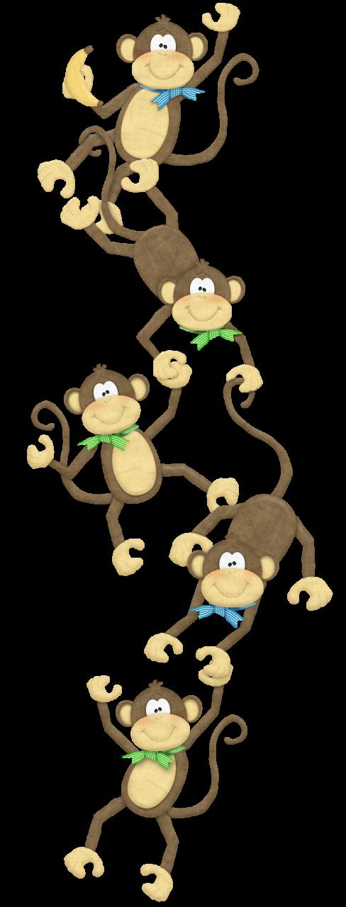 Monkeys clipart border. Monkey chain png clip