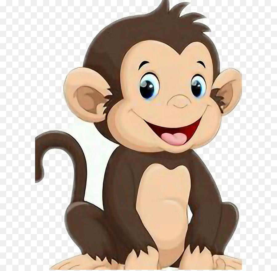 Monkey illustration . Monkeys clipart cartoon