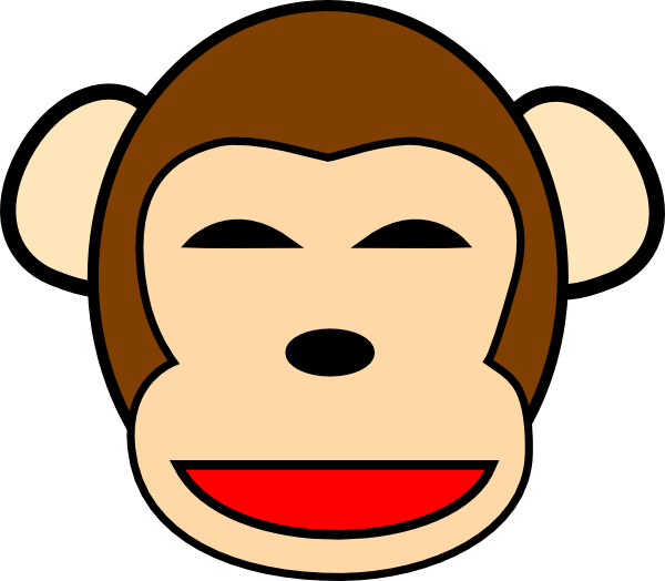 Monkeys clipart chimpanzee. Happy clip art at