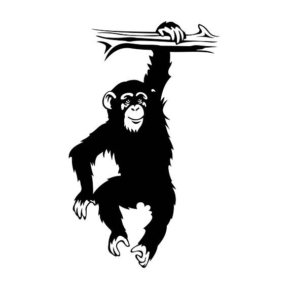 Pin by etsy on. Monkeys clipart chimpanzee