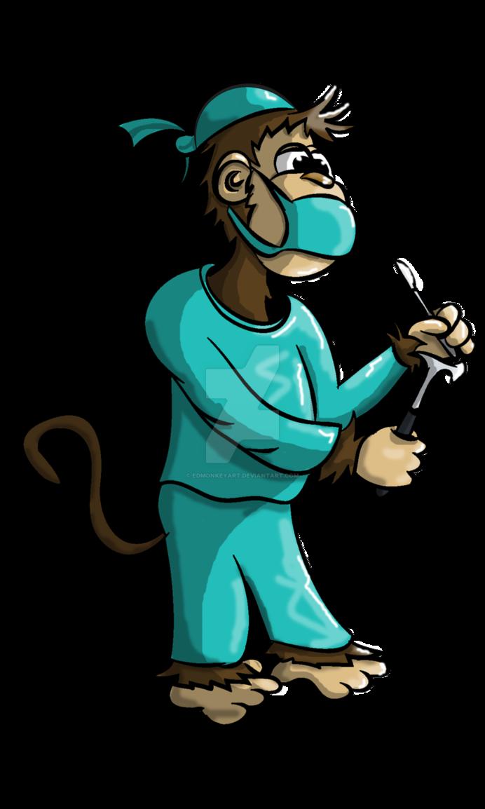 Monkey by edmonkeyart on. Monkeys clipart doctor