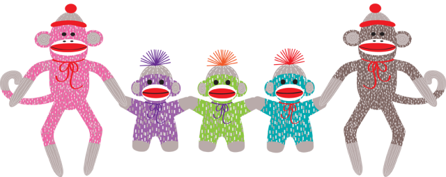 Monkeys clipart toy. Graphic design different clip