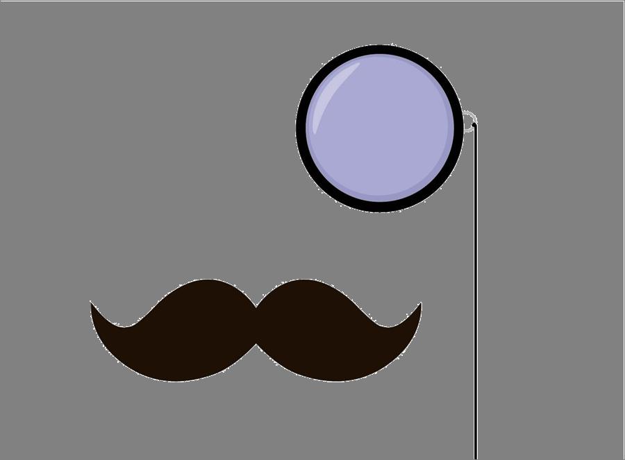 Cool clipart mustache. Monocle