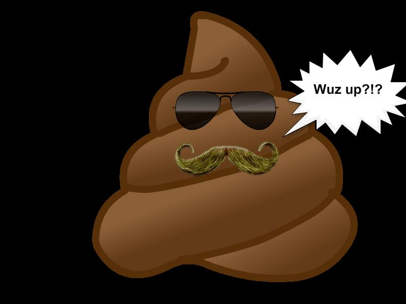 Golden Moustache Poop Emoji
