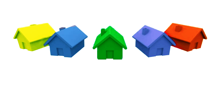 Cropped houses . Monopoly house png