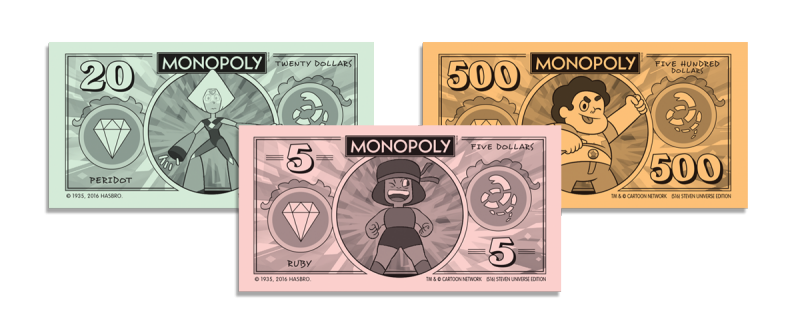Monopoly money png. Steven universe usaopoly is