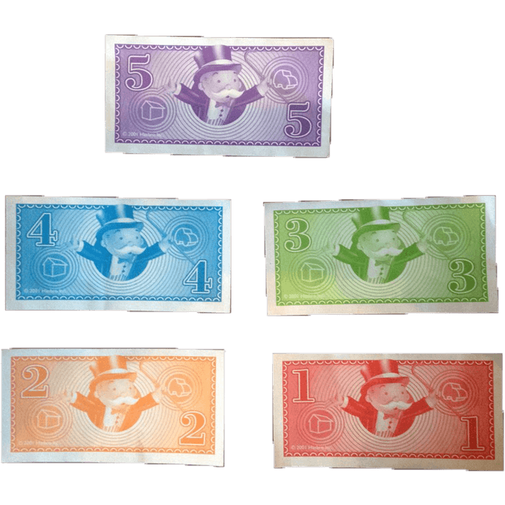 Monopoly money png. Junior