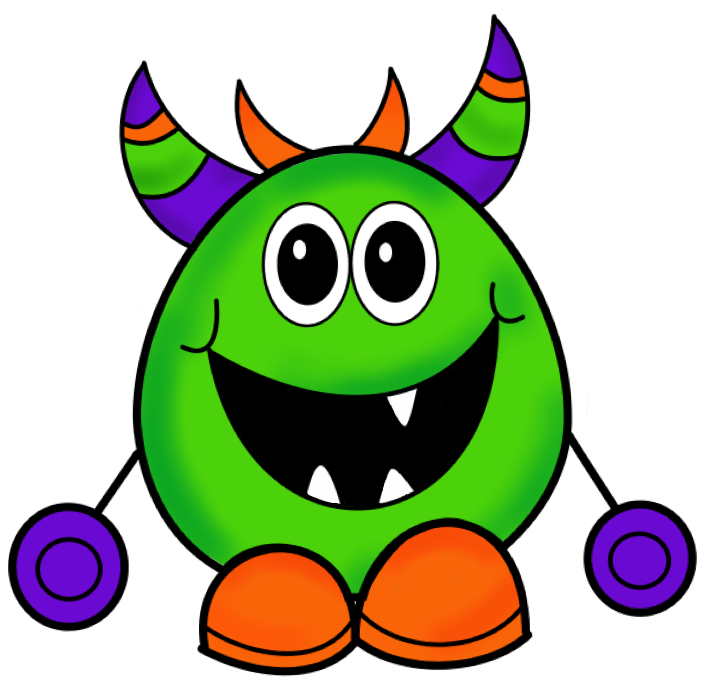 Clipart free halloween. Monster images
