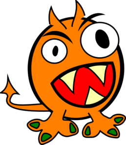 Orange clip art at. Monster clipart