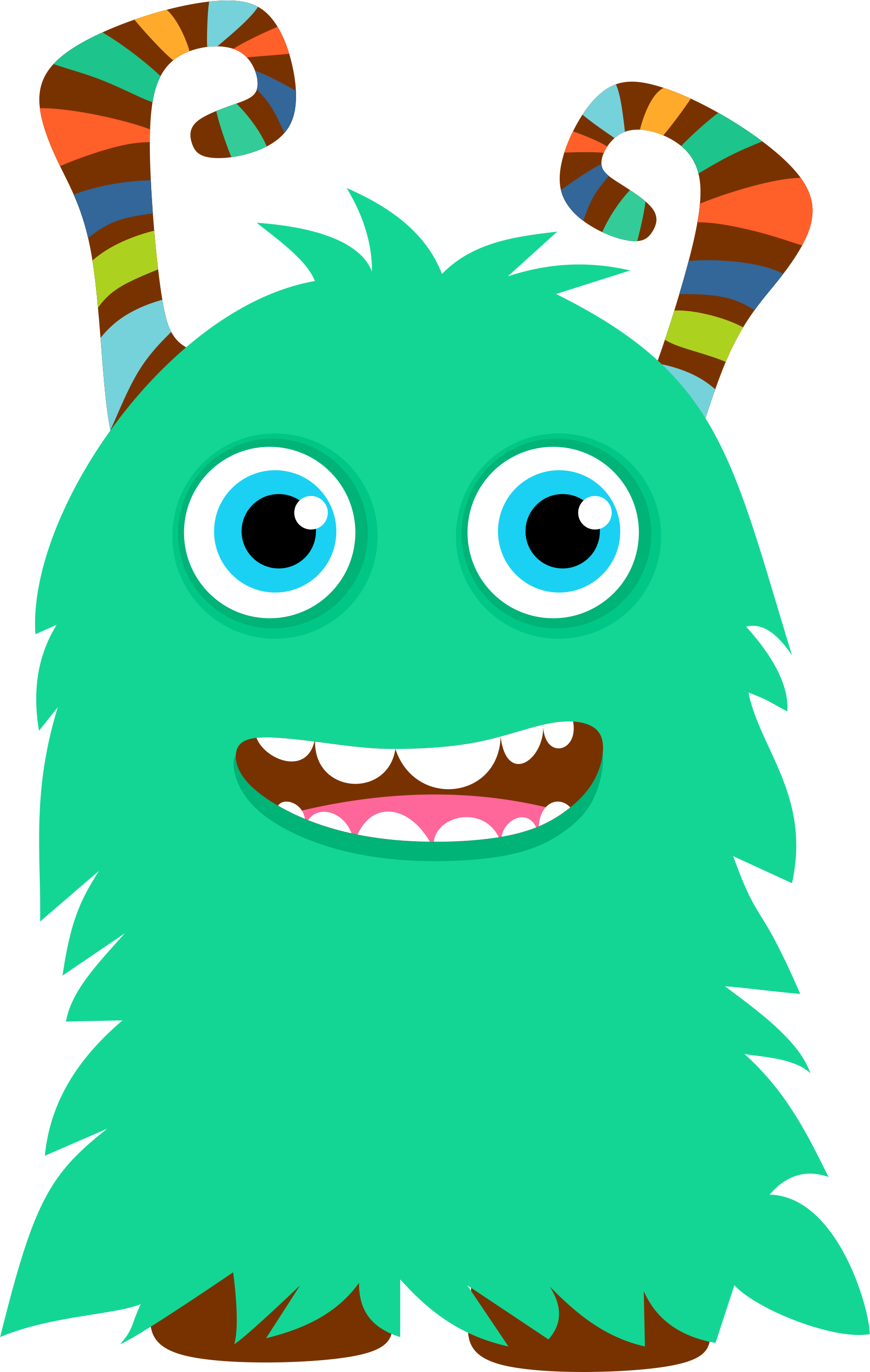 collection of png. Monster clipart