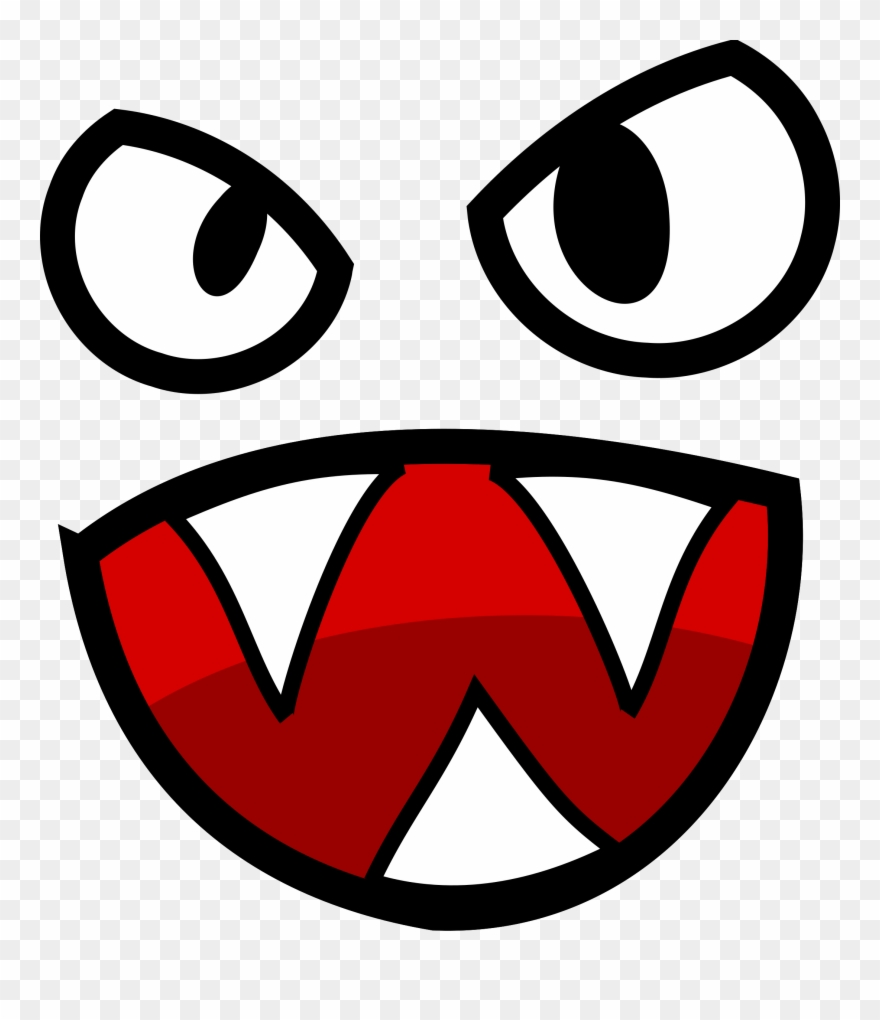 Red eyes cartoon png. Monster clipart 3 eye