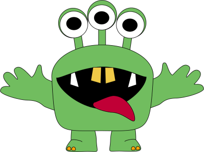 Monster clipart 3 eye. For kids three eyed