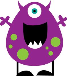 Free cute clip art. Monster clipart