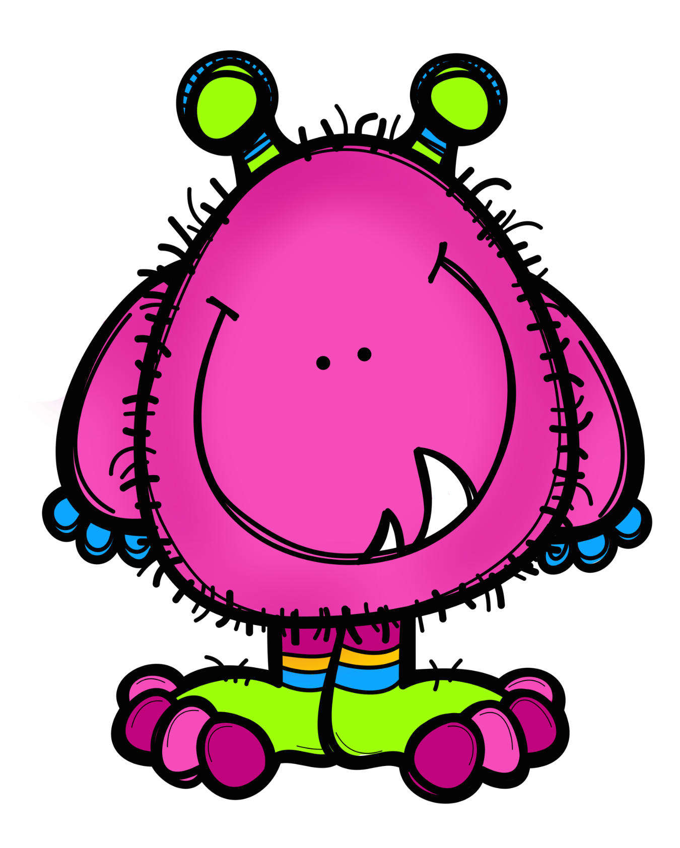 Monster clipart alein. Ch b monsters dibujos