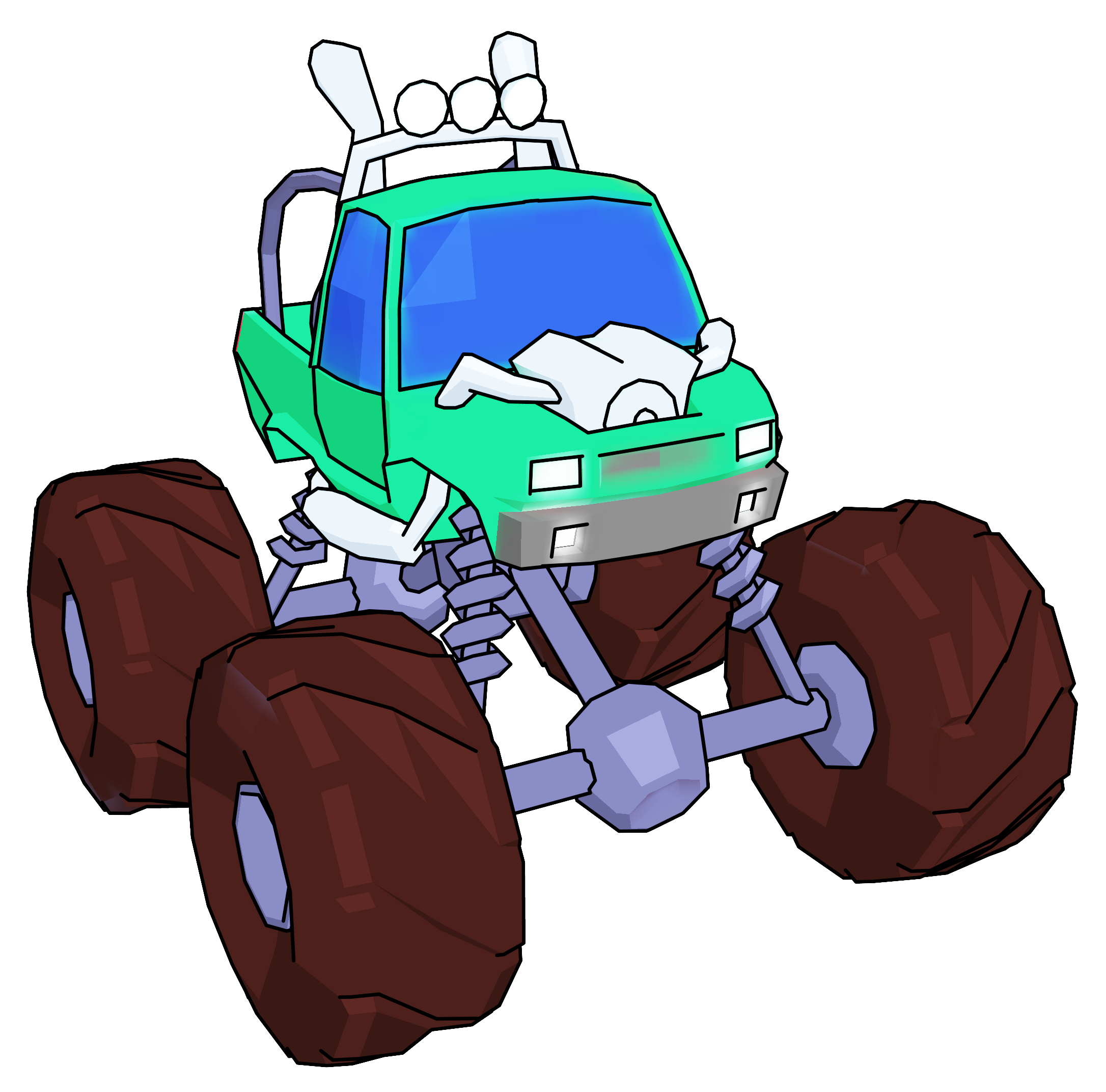 Truck cartoon perspective png. Monster clipart angry monster