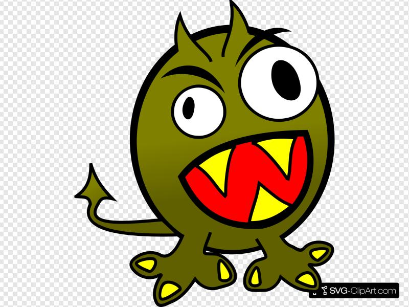Monster clipart angry monster. Small funny clip art