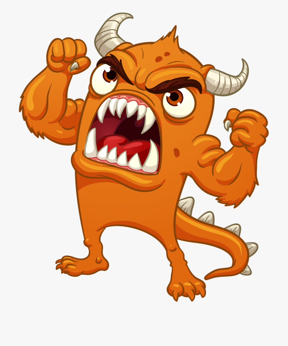 Monster clipart angry monster. Cartoon free cliparts on