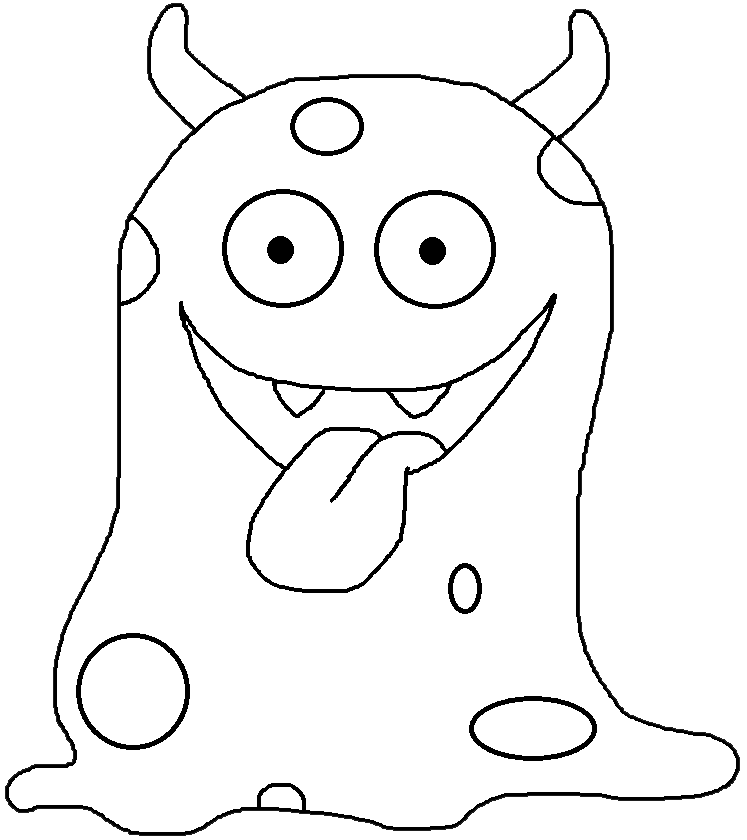 Monster clipart black and white.  collection of cute