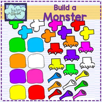 Monster clipart body part. Create build a clip