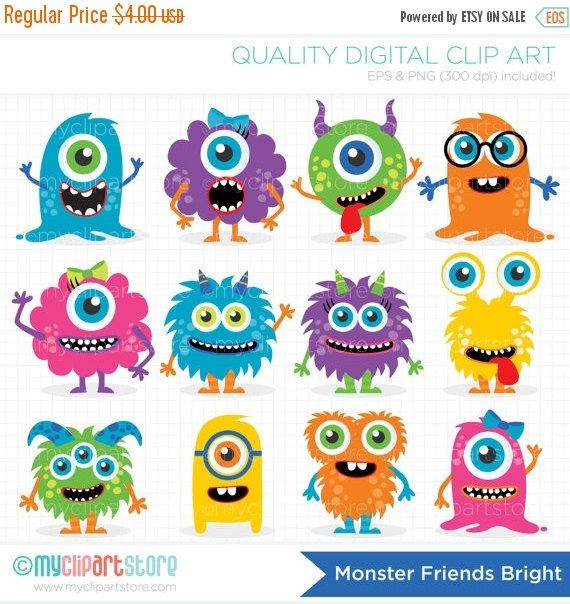 Pin by jennifer wickliffe. Monster clipart colorful monster