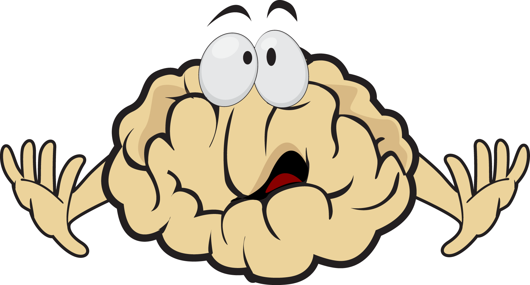 Stamp clipart monster. Scared brain wisc online